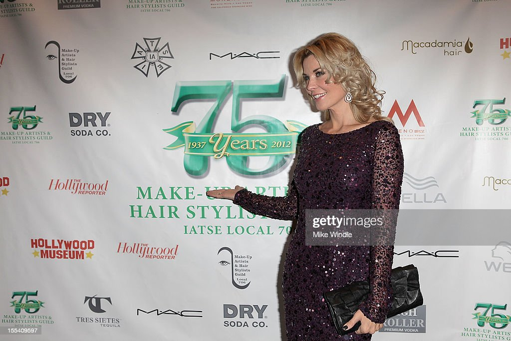 <a gi-track='captionPersonalityLinkClicked' href=/galleries/search?phrase=McKenzie+Westmore&family=editorial&specificpeople=182442 ng-click='$event.stopPropagation()'>McKenzie Westmore</a> arrives at The Make-Up Artists And Hair Stylists Guild 75th Anniversary Gala at The Hollywood Museum on November 3, 2012 in Hollywood, California.