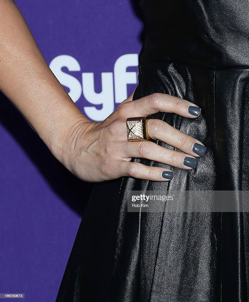 McKenzie Westmore of 'Face Off' (ring detail) attends Syfy 2013 Upfront at Silver Screen Studios at Chelsea Piers on April 10, 2013 in New York City.