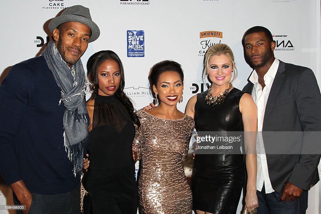 McKinley Freeman, Taylour Paige, Logan Browning, Katherine Bailess and Robert Christopher Riley attend the VH1 Divas After Party To Benefit The VH1 Save The Music Foundation at The Shrine Auditorium on December 16, 2012 in Los Angeles, California.