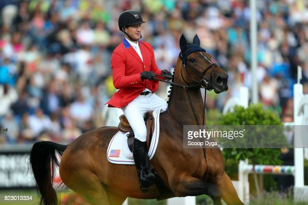 McLain WARD riding HH AZUR during the Rolex Grand Prix part of the Rolex Grand Slam of Show Jumping of the World Equestrian Festival on July 23 2017...