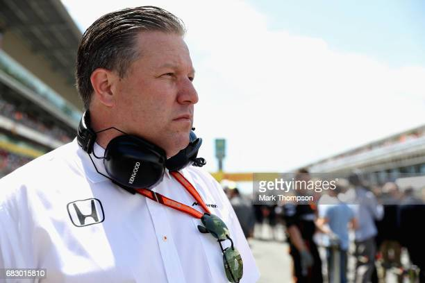 McLaren Executive Director Zak Brown on the grid during the Spanish Formula One Grand Prix at Circuit de Catalunya on May 14 2017 in Montmelo Spain