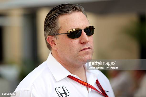 McLaren Honda Executive director Zak Brown during the Abu Dhabi Grand Prix at the Yas Marina Circuit Abu Dhabi