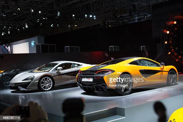 McLaren introduces the new 570S model at the New York International Auto Show at the Javits Center on April 1 2015 in New York City The auto show...