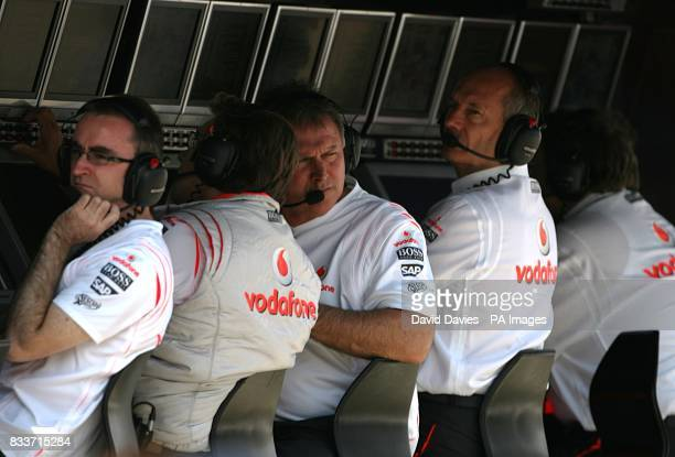 McLaren Mercedes CEO Ron Dennis during a practice session at the Hungaroring