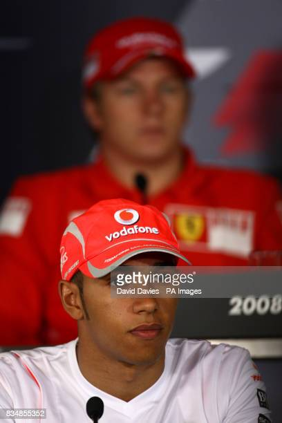 McLaren Mercedes driver Lewis Hamilton during the press conference ahead of the Chinese Grand Prix at the Shanghai International Circuit China