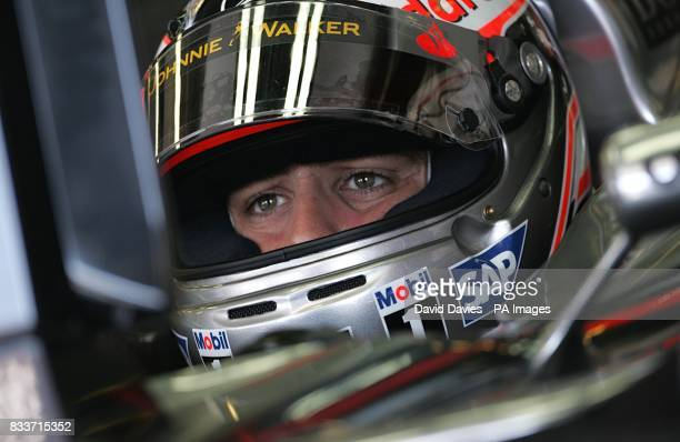 McLaren Mercedes' Fernando Alonso during a practice session at the Hungaroring