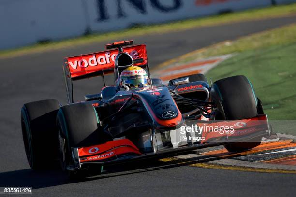 McLaren Mercedes' Lewis Hamilton during the Australian Grand Prix at Albert Park Melbourne Australia