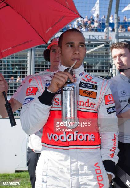 McLaren Mercedes Lewis Hamilton on the grid prior to the Australian Grand Prix at Albert Park Melbourne Australia