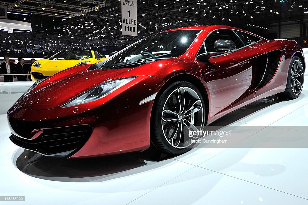 A McLaren P1 is shown during the 83rd Geneva Motor Show on March 5, 2013 in Geneva, Switzerland. Held annually with more than 130 product premiers from the auto industry unveiled this year, the Geneva Motor Show is one of the world's five most important auto shows.