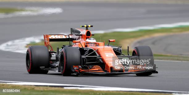 McLaren Stoffel Vandoorne during second practice of the 2017 British Grand Prix at Silverstone Circuit Towcester