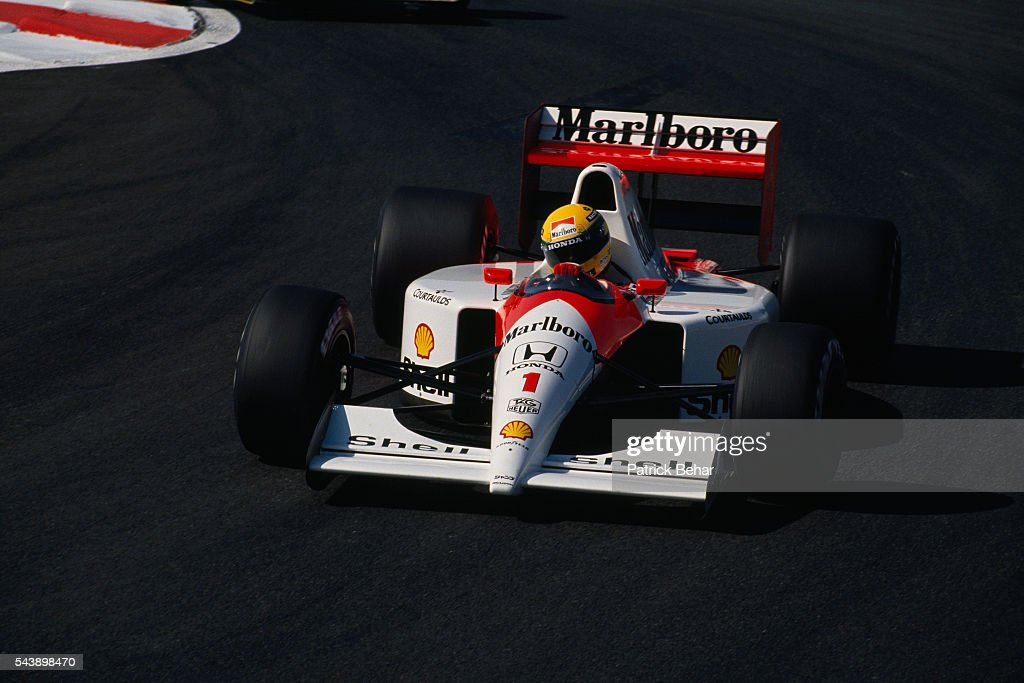 McLaren-Honda driver Ayrton Senna.