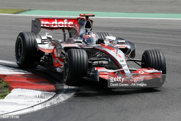 McLaren's Fernando Alonso during the European Formula One Grand Prix at the Nurburgring Germany