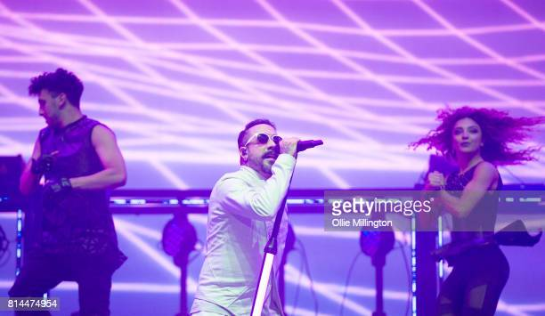McLean of Backstreet Boys performs onstage headlining Day 4 of the 50th Festival D'ete De Quebec at Plains of Abraham on the Main stage stage on July...