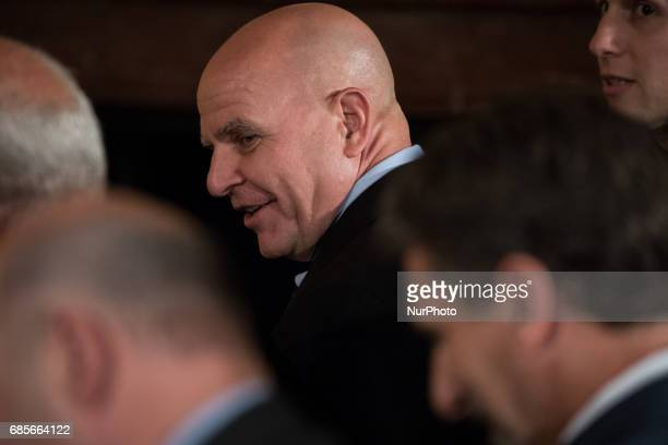 H R McMaster US National Security Advisor was present for the joint press conference with President Juan Manuel Santos of Colombia in the East Room...