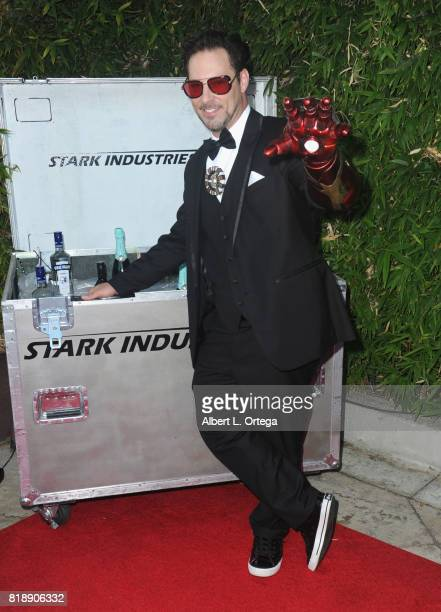 MC/producer Bernie Bregman aka the Geek Gatsby of Nerds Like Us attends Stan Lee 95th Birthday House Party held at Private Residence on July 18 2017...