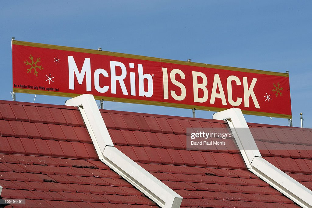 mcdonald 39 s brings back the mcrib sandwich getty images. Black Bedroom Furniture Sets. Home Design Ideas