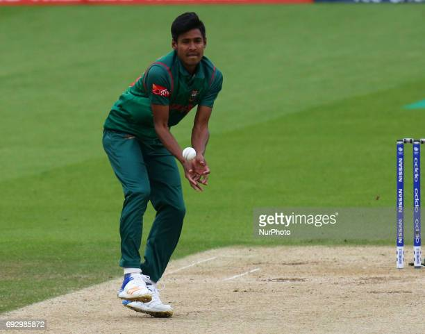 Md Mustafizur Rahman of Bangladesh during the ICC Champions Trophy match Group A between Australia and Bangladesh at The Oval in London on June 05...