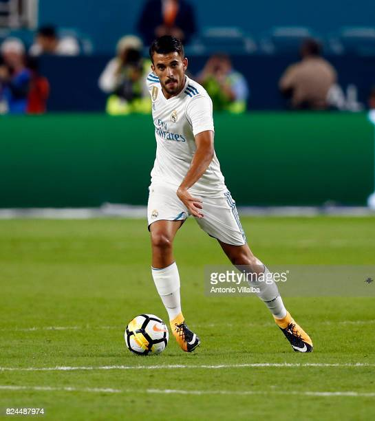 MDaniel Ceballos of Real Madrid during the international champions cup match between Real Madrid CF and FC Barcelona at Hard Rock Stadium on July 29...