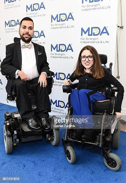 MDAÕs 2016 National Goodwill Ambassador Joe Akmakjian and Shannon DeVido attend the Muscular Dystrophy Association Funding Announcement at Carnegie...