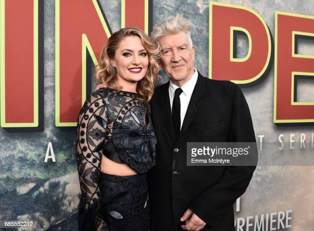 Mädchen Amick and David Lynch attend the premiere of Showtime's 'Twin Peaks' at The Theatre at Ace Hotel on May 19 2017 in Los Angeles California