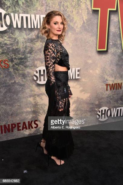 Mädchen Amick attends the premiere of Showtime's 'Twin Peaks' at The Theatre at Ace Hotel on May 19 2017 in Los Angeles California