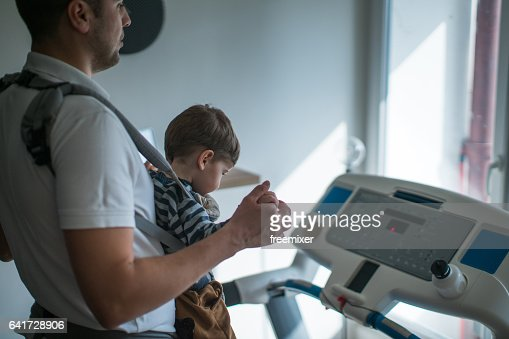 Me and my son exercising