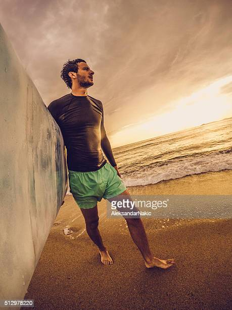 Moi et ma planche de surf