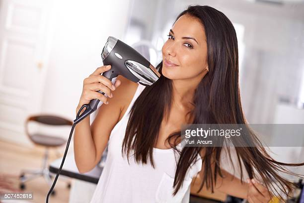 Me and my trusty hairdryer