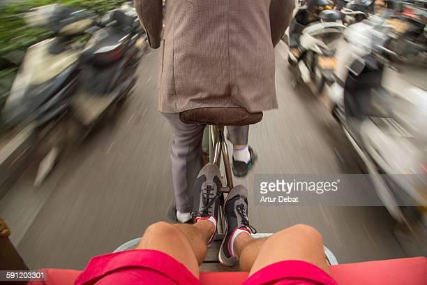 Me going on Rickshaw transport in Suzhou.