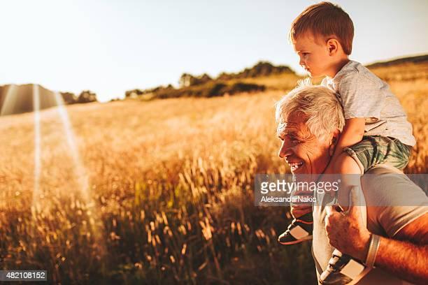 Me, grandpa and nature