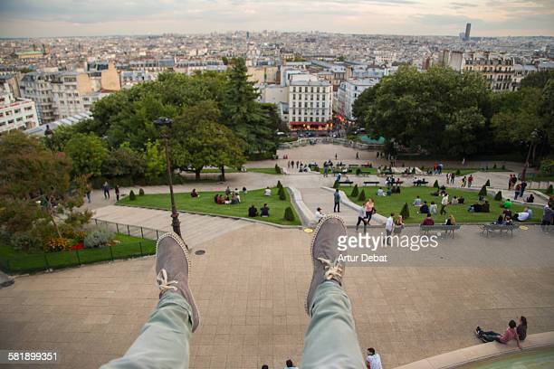 Me on Montmartre from Pov with my feet