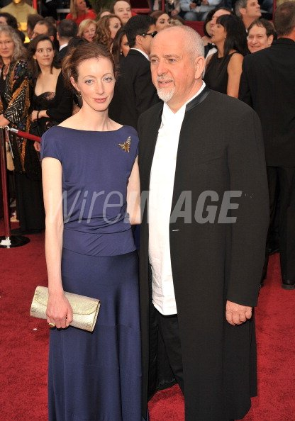 Meabh Flynn and Musician Peter Gabriel arrive at the 81st