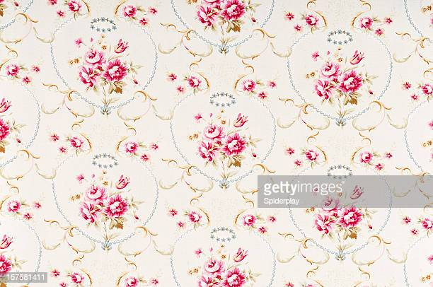 Meadow Rose Medium Antique Floral Fabric