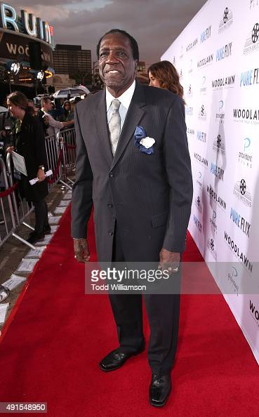 Meadowlark Lemon attend the LA Premiere Of Pure Flix's 'Woodlawn' at the Bruin Theater on October 5 2015 in Los Angeles California