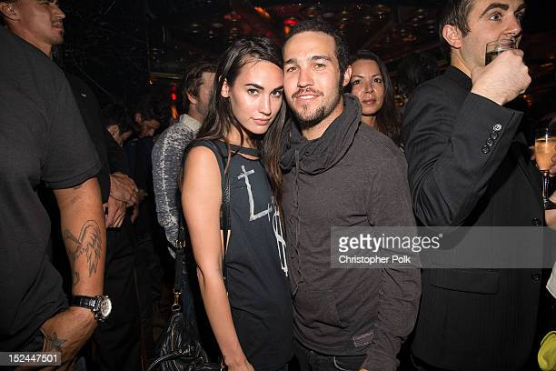 Meagan Camper and musician Pete Wentz attend the Kiss Album Release Party At Bootsy Bellows on September 20 2012 in Los Angeles California