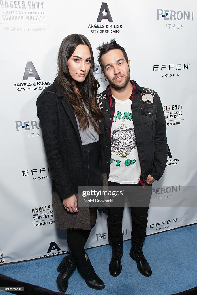 Meagan Camper and Pete Wentz attend the 2nd Anniversary of Angels & Kings on February 2, 2013 in Chicago, Illinois.