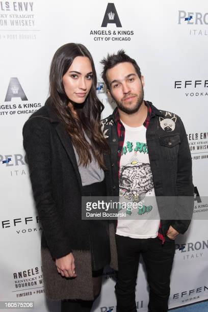 Meagan Camper and Pete Wentz attend the 2nd Anniversary of Angels Kings on February 2 2013 in Chicago Illinois