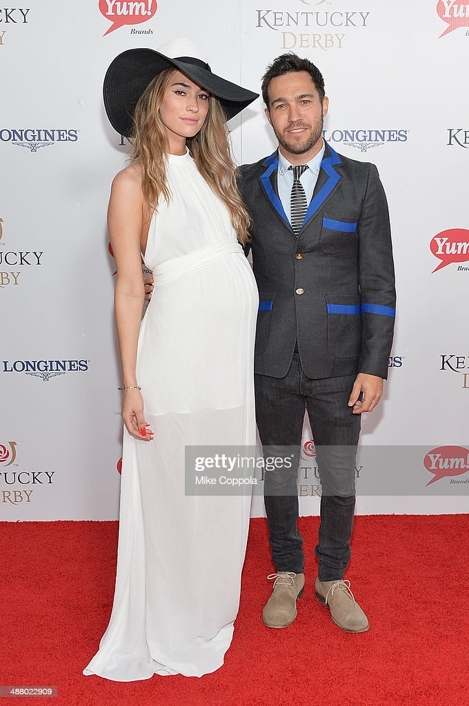 Meagan Camper (L) and Peter Wentz attend 140th Kentucky Derby at Churchill Downs on May 3, 2014 in Louisville, Kentucky.
