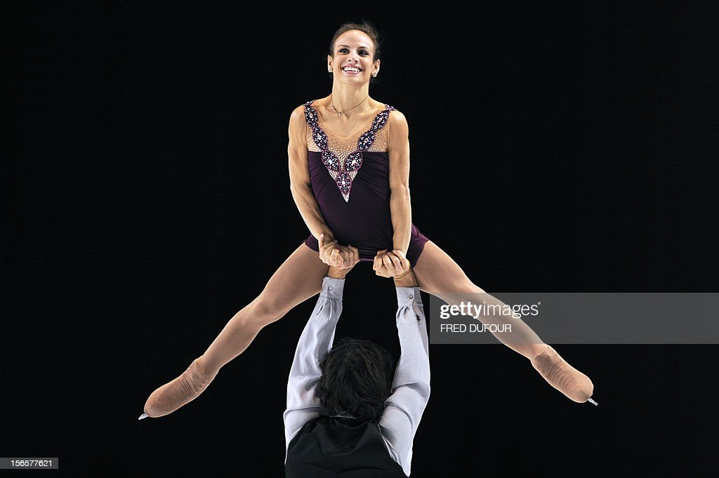 Meagan Duhamel and Eric Radford of Canada compete at the pairs free skating program during the Trophee Eric Bompard, the fifth in the six-round ISU Grand Prix figure skating series, on November 17, 2012 at Bercy congress hall (POPB) in Paris.