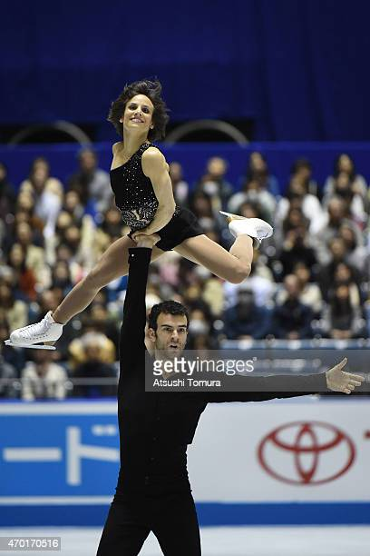 Meagan Duhamel and Eric Radford of Canada compete in the Pairs free skating during the day three of the ISU World Team Trophy at Yoyogi National...