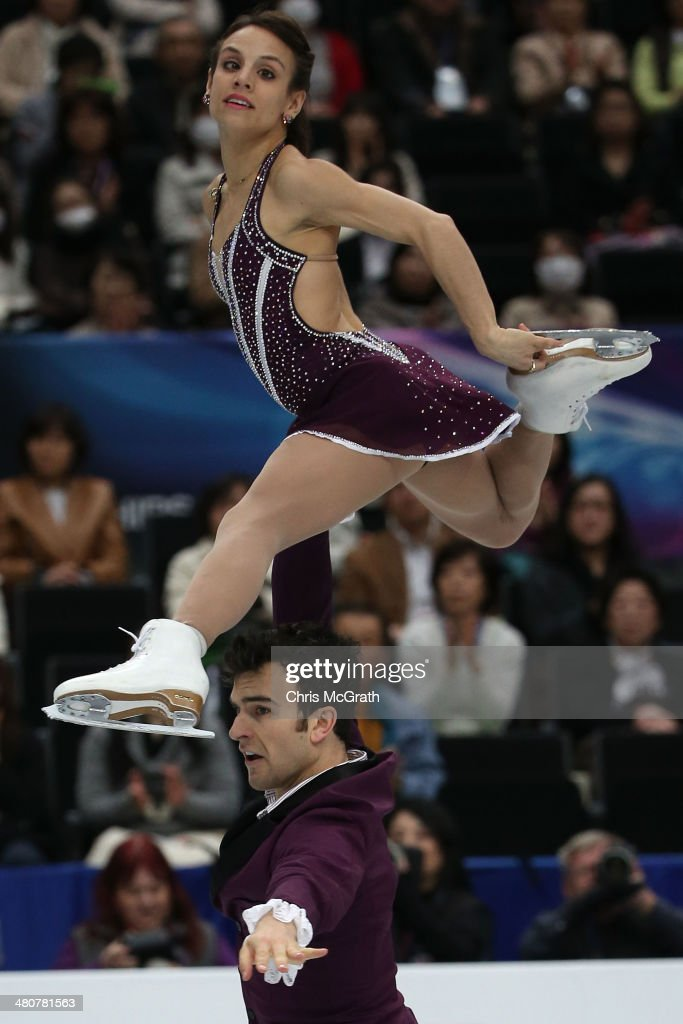<a gi-track='captionPersonalityLinkClicked' href=/galleries/search?phrase=Meagan+Duhamel&family=editorial&specificpeople=2076875 ng-click='$event.stopPropagation()'>Meagan Duhamel</a> and <a gi-track='captionPersonalityLinkClicked' href=/galleries/search?phrase=Eric+Radford&family=editorial&specificpeople=5587908 ng-click='$event.stopPropagation()'>Eric Radford</a> of Canada compete in the Pairs Free Program during ISU World Figure Skating Championships at Saitama Super Arena on March 27, 2014 in Saitama, Japan.