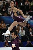 Meagan Duhamel and Eric Radford of Canada compete in the Pairs Free Program during ISU World Figure Skating Championships at Saitama Super Arena on...