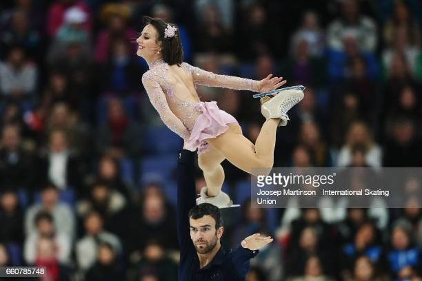 Meagan Duhamel and Eric Radford of Canada compete in the Pairs Free Skating during day two of the World Figure Skating Championships at Hartwall...