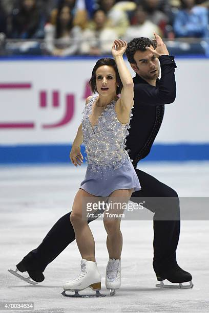 Meagan Duhamel and Eric Radford of Canada compete in the Pairs short program during the day two of the ISU World Team Trophy at Yoyogi National...