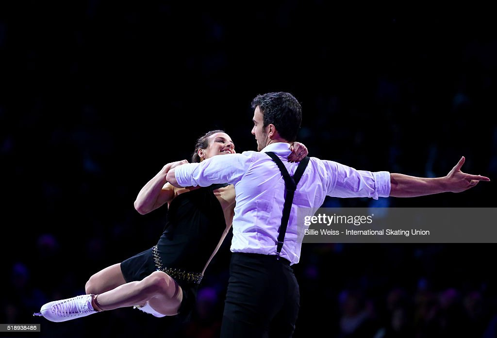 Meagan Duhamel and Eric Radford of Canada perform during the exhibition of champions during Day 7 of the ISU World Figure Skating Championships 2016 at TD Garden on April 3, 2016 in Boston, Massachusetts.