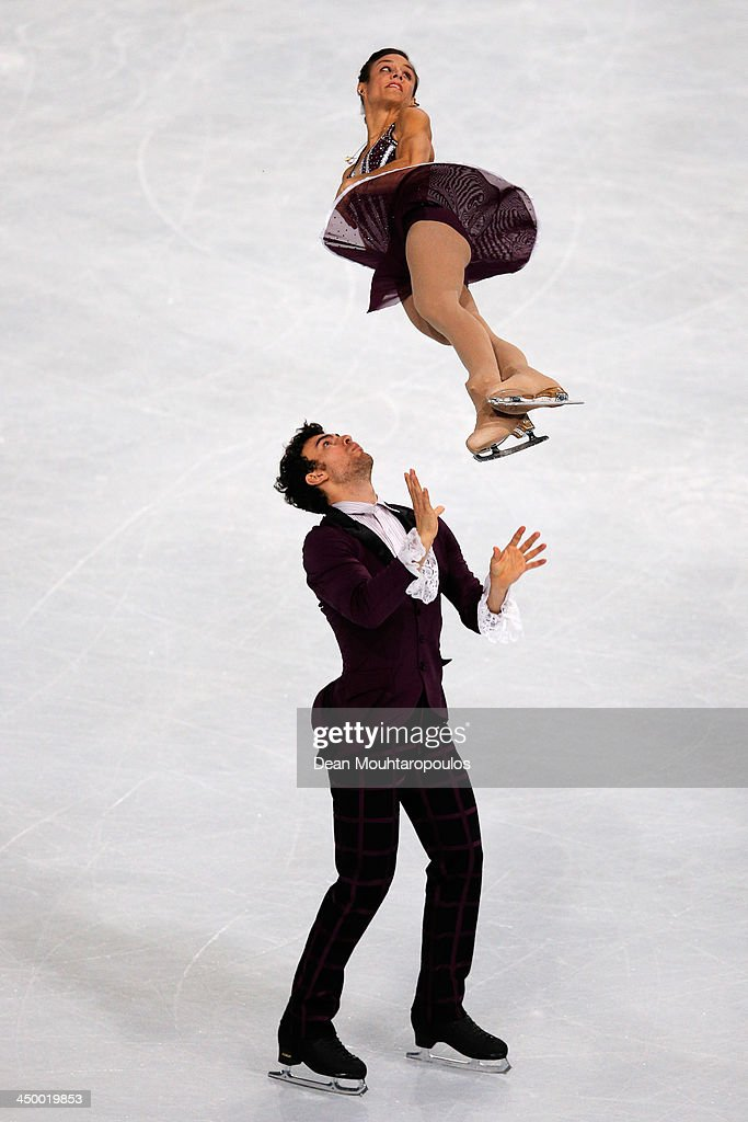 Meagan Duhamel and Eric Radford of Canada perform in the Paris Free Skating during day two of Trophee Eric Bompard ISU Grand Prix of Figure Skating 2013/2014 at the Palais Omnisports de Bercy on November 16, 2013 in Paris, France.