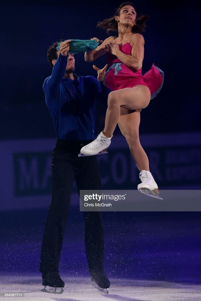 Meagan Duhamel and Eric Radford of Canada perform their routine in the ISU Gala during day four of the ISU Grand Prix of Figure Skating Final 2013/2014 at Marine Messe Fukuoka on December 8, 2013 in Fukuoka, Japan.