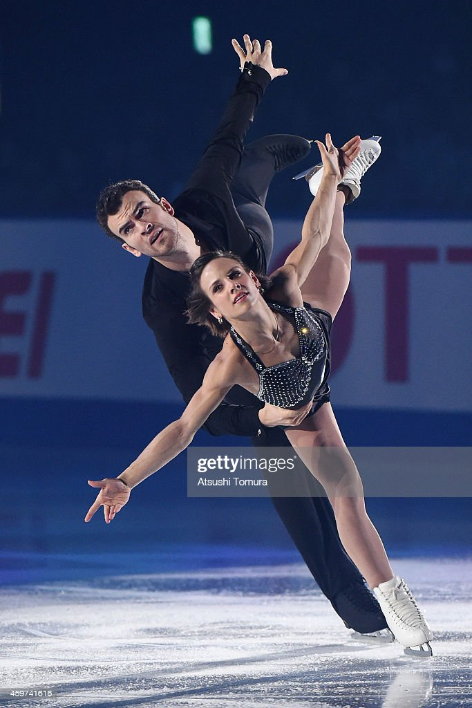 <a gi-track='captionPersonalityLinkClicked' href=/galleries/search?phrase=Meagan+Duhamel&family=editorial&specificpeople=2076875 ng-click='$event.stopPropagation()'>Meagan Duhamel</a> and <a gi-track='captionPersonalityLinkClicked' href=/galleries/search?phrase=Eric+Radford&family=editorial&specificpeople=5587908 ng-click='$event.stopPropagation()'>Eric Radford</a> of Canada perform their routine in the exhibition during day three of ISU Grand Prix of Figure Skating 2014/2015 NHK Trophy at the Namihaya Dome on November 30, 2014 in Osaka, Japan.