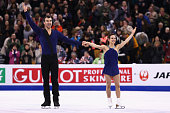 Meagan Duhamel and Eric Radford of Canada skate in the Pairs Free Skate on Day 6 of the ISU World Figure Skating Championships 2016 at TD Garden on...