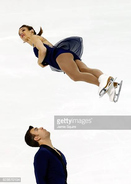 Meagan Duhamel and Eric Radford of Team North America compete in the Pairs Free Skate on day 2 of the 2016 KOSE Team Challenge Cup at Spokane Arena...